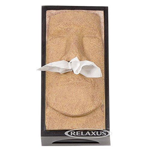 Tissue Box Cover - The Schnozzz, Tiki Head, Easter Island Head (SAND)