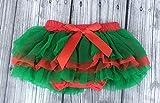 baby girls tutu - red tutu - ruffle bloomers - tutu - photo prop - diaper cover - 6/12 months - christmas tutu - xmas bloomers - my first christmas - xmas girl