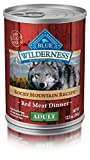 Cheap Blue Buffalo Wilderness Rocky Mountain Recipe High Protein Grain Free, Natural Adult Wet Dog Food, Red Meat 12.5-Oz Can (Pack Of 12)