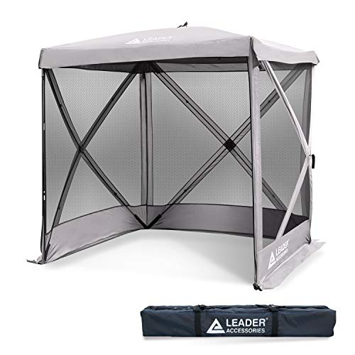 Leader Accessories 6x6 feet Instant Popup Mesh Screen House/Room/Canopy/Shelter/Gazebo (Gray)