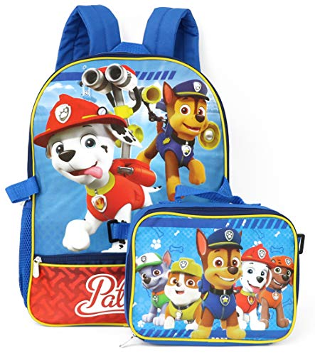 Nickelodeon Boys' Paw Patrol Backpack with Lunch, Blue/Red ()