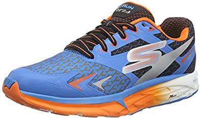 Skechers Running Shoes for Men - Blue/Orange/Black 41.5 EU