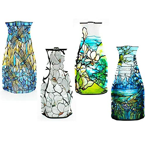 MODGY Myvaz Collapsible/Expandable Flower Vase - Tiffany 4pc Collection