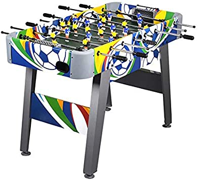 WIN.MAX Mesa de fútbol 4 pies Fútbol Colorido Juego de futbolín MDF Construcción Competencia Tamaño Arcade Deportes Diversión Servicio de Sala de Pub Interior Resistente: Amazon.es: Juguetes y juegos