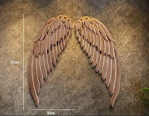 XQY Decoración de Pared, Estante de Almacenamiento de Pared, Arte de ala de ángel Decorativos Decorativos de Pared de...