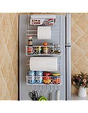 N/A - Percha para almacenamiento de cocina, estante lateral, estante de almacenamiento de clóset de múltiples capas