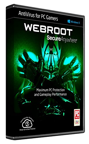 Webroot Internet Security AntiVirus for PC Gamers | 2017 |1 Device| 1 Year Subscription | PC