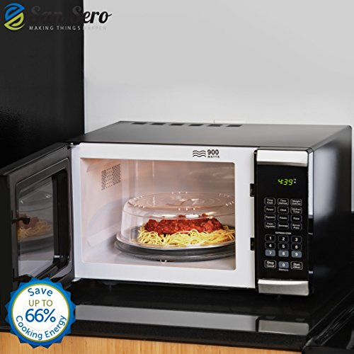 San Sero Microwave Oven Plate Cover Vented Design 10.5 Inch Size Save 66 Percent Cooking Energy British Made