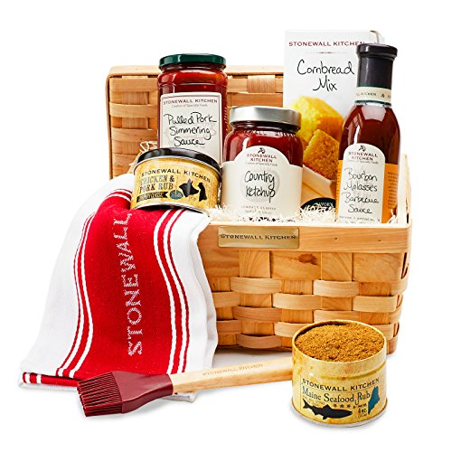 Stonewall Kitchen New England Barbecue 8 Piece Gift - 2 BBQ Sauces, 2 BBQ Rubs, Cornbread Mix, and more