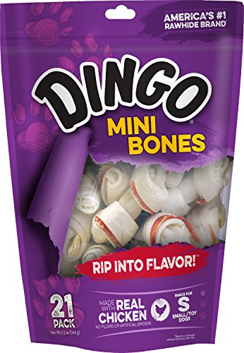 Dingo Rawhide Mini Bones, 21-Count Value Bag