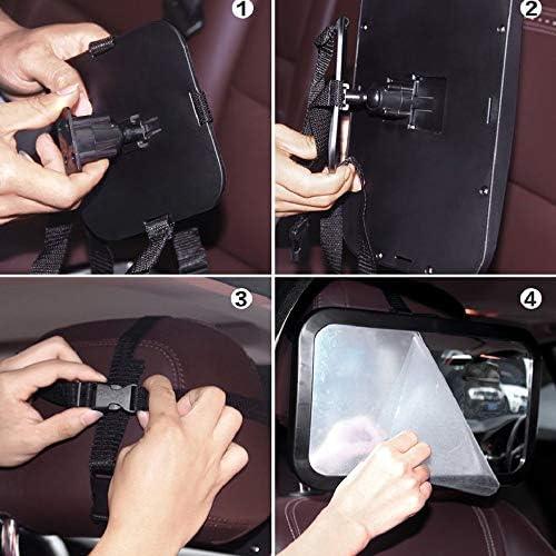 KKmoon Espejo Retrovisor Beb/é Coche,Espejo Retrovisor para Vigilar al Beb/é 360/° Ajustable Interior Espejo