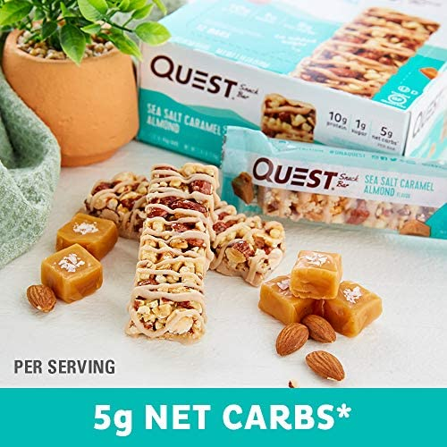 Quest Nutrition Sea Salt Caramel Almond Snack Bar, High Protein, Low Carb, Gluten Free, Keto Friendly, 12-Count 7