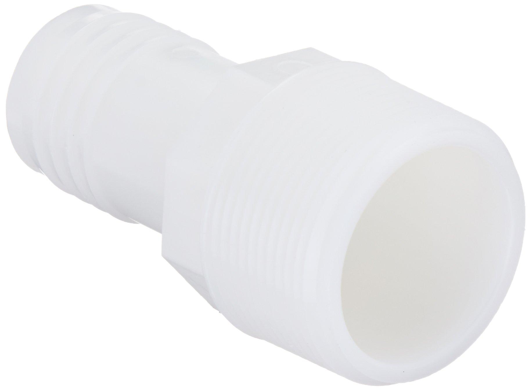 Parker Hannifin 325HB-20-24N-pk5 Par-Barb Male Connector Fitting, Nylon, 1– 1/4'' Hose Barb x 1– 1/2'' Male NPT, White (Pack of 5)
