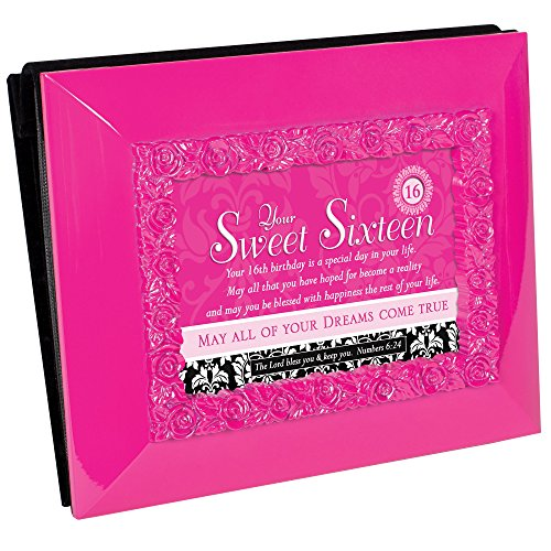 Sweet Sixteen Dreams Come True Glossy Pink 50 Page 5 x 7 Photo Frame Lid Picture Album (Plaque Sweet)