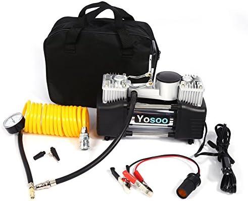 Yosoo 150PSI Mini Compresor de Aire de Rueda con Medidor de Presión Inflador Portátil De Neumáticos De Coche, Motocicleta, Bicicleta, Bomba de presión 12V: Amazon.es: Coche y moto