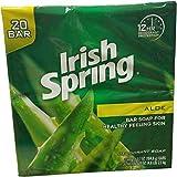 Irish Spring Aloe Bar Soap, 20 Count, 74 Ounce