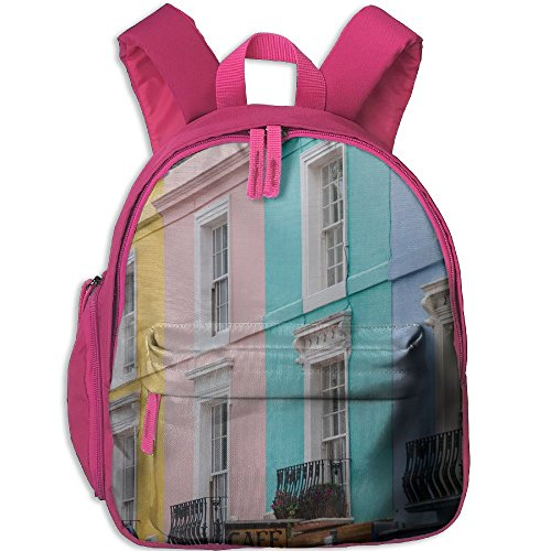 Toddler School Bag Colored Houses Walls England Blue Green Pink Portobello Road London Shoulder Bag Pink ()