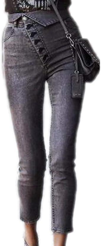 Hibasing Mujeres Denim Premium Jeggings - Pantalones de algodón ...