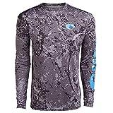 Costa Men's Technical Hexo LS Shirt Camo Gray M