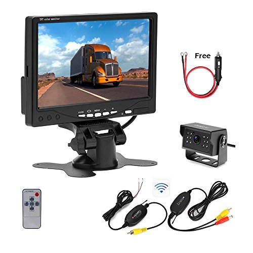 Camecho RC 12V 24V Wireless Backup Camera Reverse System 7 I