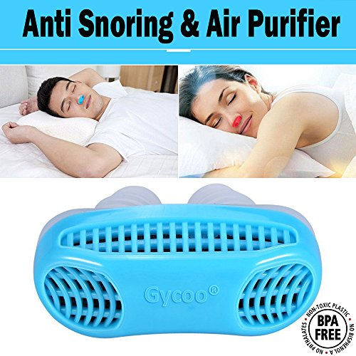 Gycoo - New Best Original Anti Snoring Solution & Air Purifier Filter Stop Snore Nose Vent for Comfortable Sleep Blue