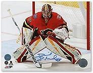 David Rittich Calgary Flames Autographed Hockey Goalie 8x10 Photo
