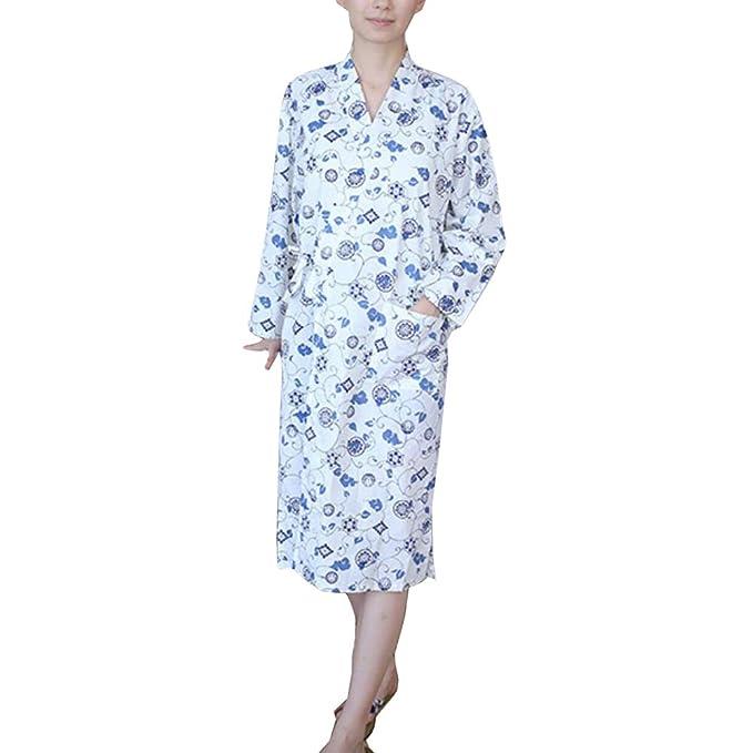 Bata de algodón Japonesa para Mujer Bata de algodón Kimono Pajamas B: Amazon.es: Ropa y accesorios