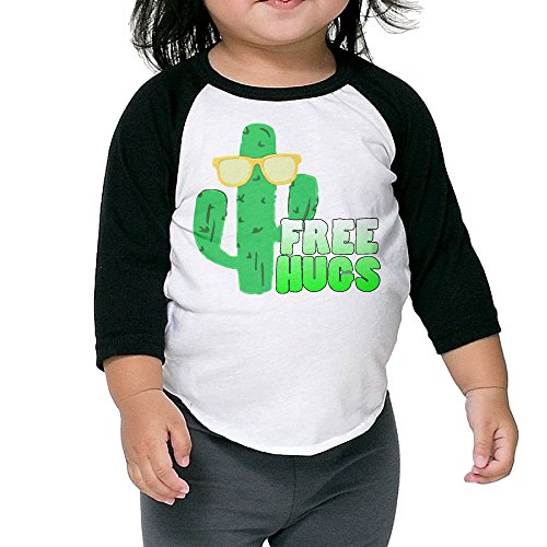 Cute Sunglasses Cactus Unisex Kids 3/4 Sleeves Raglan T Shirts Child Youth Slim Fit Sports Uniforms 5-6 - Sunglasses Witcher 3