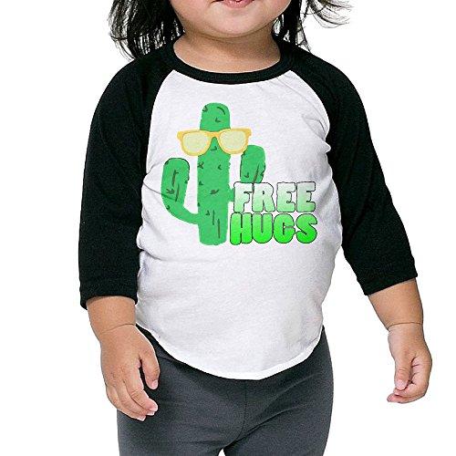 Cute Sunglasses Cactus Unisex Kids 3/4 Sleeves Raglan T Shirts Child Youth Slim Fit Sports Uniforms 5-6 - Sunglasses 3 Witcher