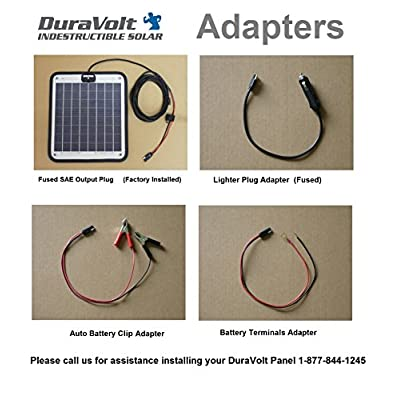 DuraVolt Fifth Wheel & Travel Trailer (Class B&C RV) Magnetic Battery maintainer 12 Volt 8.3 Watt - No Experience Plug & Play Design. Dimensions 11.8