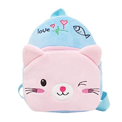 4432bf1b5833 Children Baby Boys Girls Kids Small Toddler Cute Cartoon Animal Backpack  Toddler School Bag Cat rabbit little girl with bow Preschool Insulated  Lunch Box ...