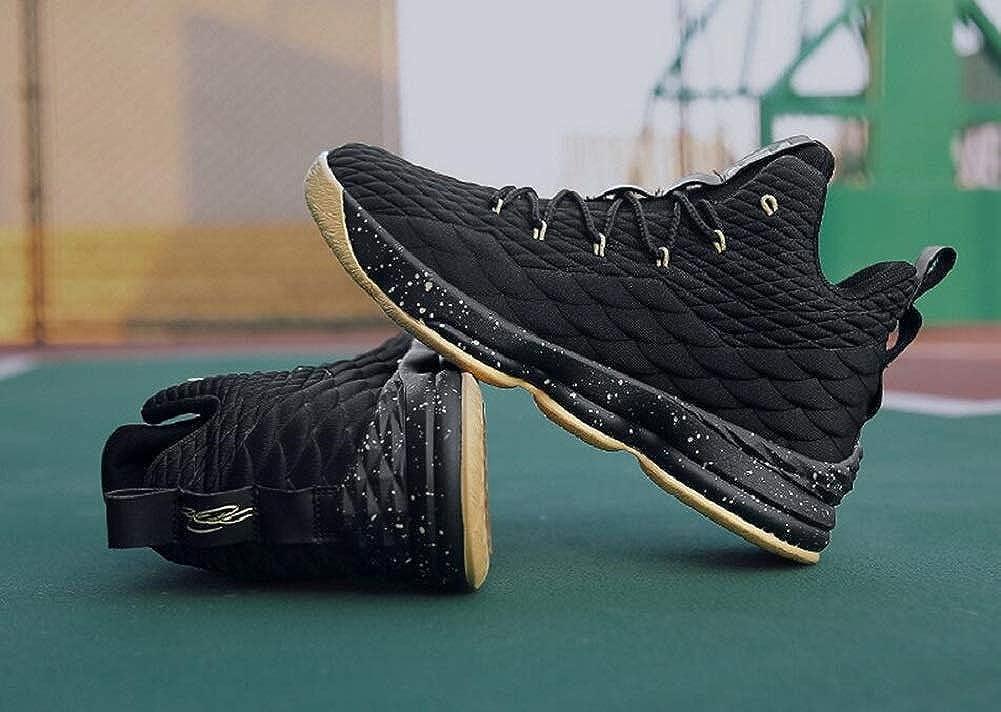 97accc35af9e3c 37EU=5US-Men/6US-Women S18080-Black Gold-37 Black Gold JIYE Womens Mens  Fashion Basketball Shoes Wear Resistant Flyknit Sneakers