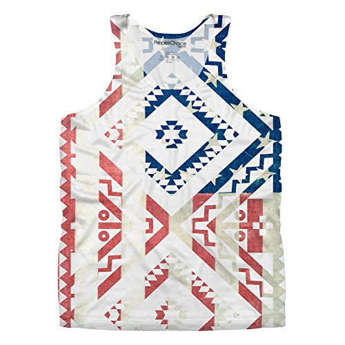 Vintage Ethnic Americana for Mens Tank Top by Peoples Choice Apparel (L)