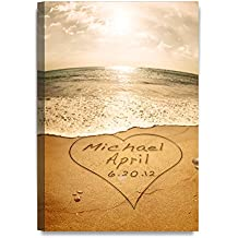 DecorArts - Sand Writing Personalized Art Canvas Prints Gift, includes Names and the Special Date - Perfect Gift for the Wedding Anniversary.
