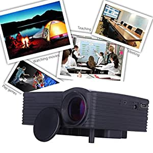 GBSELL 1080P HD Home Cinema Theater Multimedia LCD LED Projector AV VGA USB HDMI for Party,Meeting,Teaching,Home Entertainment