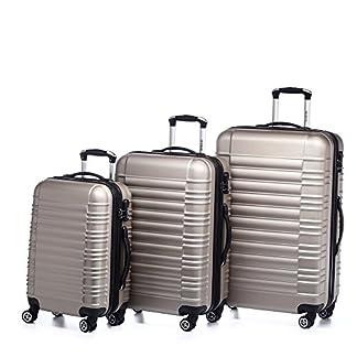 Beibye LG2088 – Juego de 3 maletas rígidas