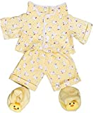 Best FIESTA Friends Teddy Bears - Yellow Chicken Pajamas with Slippers Teddy Bear Clothes Review