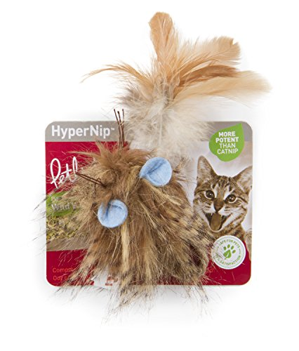 Petlinks 49717 Wild Wooly Long Tailed Mouse Hyper Nip Catnip Toy