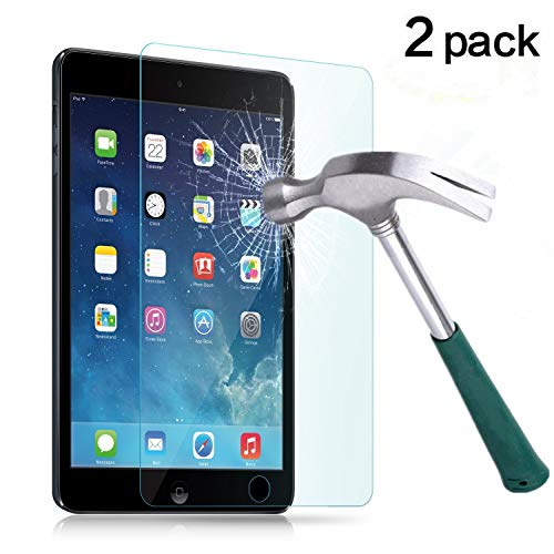 TANTEK iPad Mini 1/2/3 Screen Protector, [Bubble-Free][HD-Clear][Anti-Scratch][Anti-Glare][Anti-Fingerprint] Tempered Glass Screen Protector for iPad Mini 1/2/3 7.9 Inch,-[2Pack] (Best Anti Glare Screen Protector For Ipad Mini)