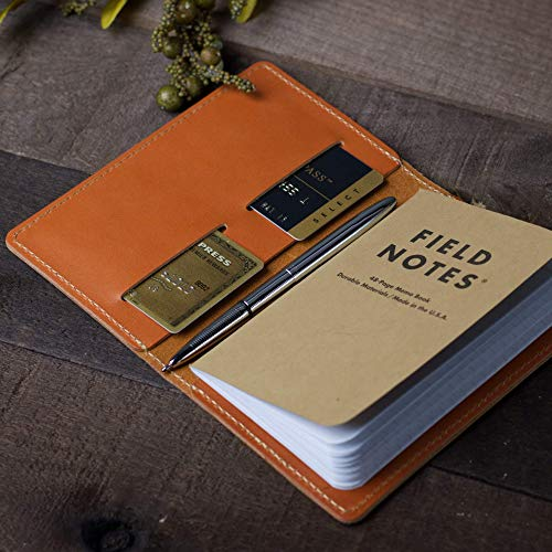 Coal Creek Leather Field Notes Cover/Moleskine Cover - Full Grain Wickett & Craig Leather/Moleskine Wallet/Minimalist/Monogrammed / FLD1 / Personalized