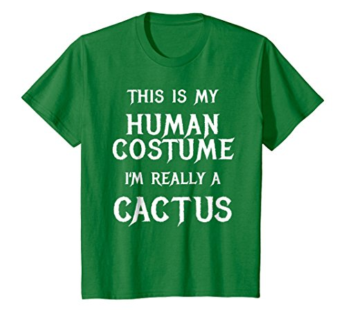 Kids I'm Really a Cactus Halloween Costume Shirt Funny Gift Idea 12 Kelly Green -