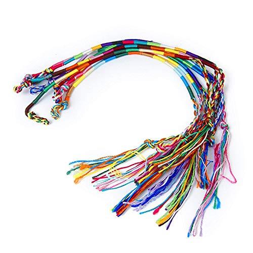 ShiWang 9 x Hippie Estilo trenzado hilo pulseras de la ...