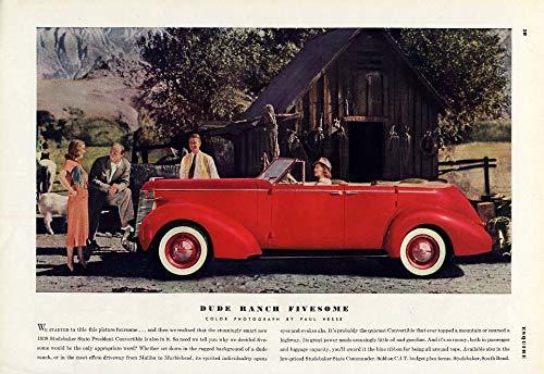 - Dude Ranch Fivesome - Studebaker Convertible Sedan ad 1938 ESQ