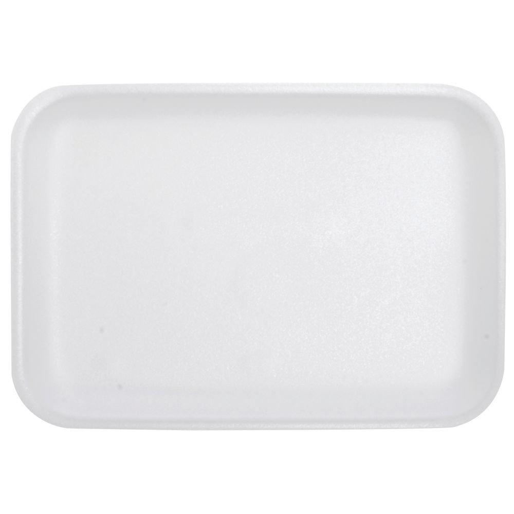 Foam Trays Meat White - 8 1/4L x 5 3/4W x 5/8H 500 Per Case DYNE-A-PAK INC