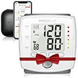 MOCACuff Bluetooth Blood Pressure Monitor, Wireless Automatic Blood Pressure Wrist Cuff [Portable] with Protector Case and Tracking App for Apple and Android (White)
