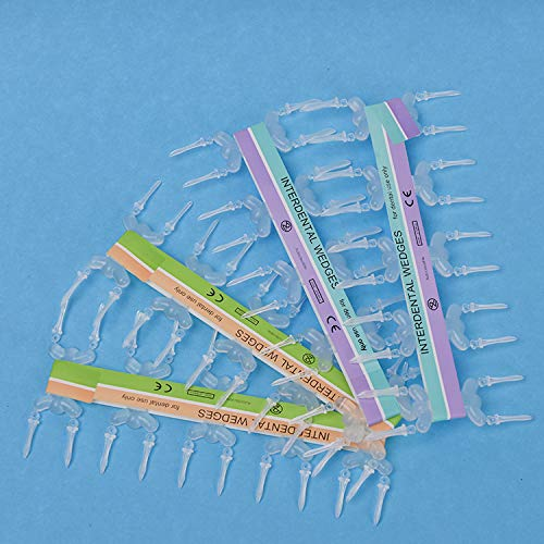 Annhua Dental Matrix Bands Kit,Matrix Band with 80 Pcs Plastic Intredental Wedges