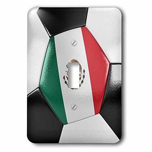 3dRose lsp_181229_1 Mexico Soccer Ball Single Toggle Switch by 3dRose