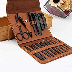 AIWOGEP 16 Pieces Manicure Set with PU Leather Case, Personal Care Tool, Gifts for Men/Women, Anniversary, Christmas, Birthday, Married Couples Anniversary, Stocking Stuffs