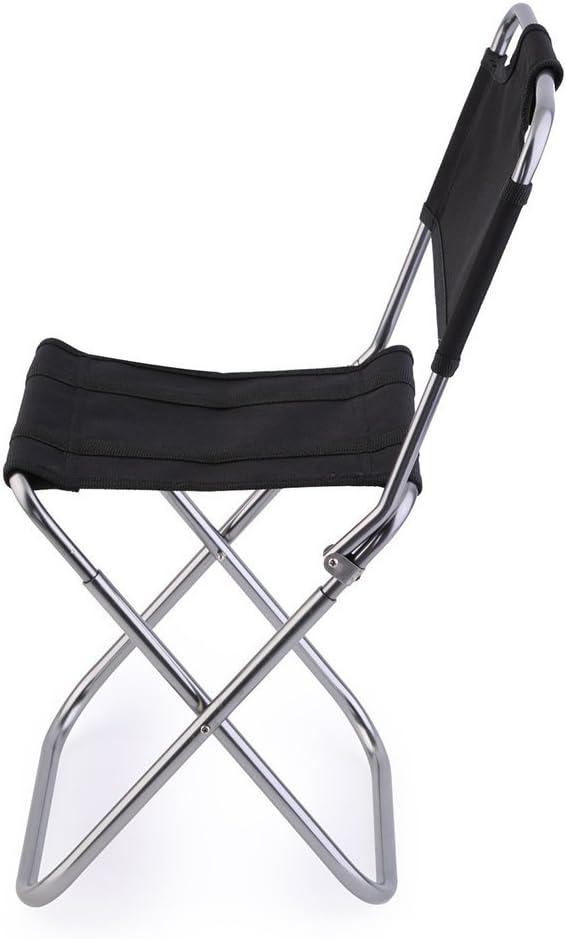 wasserdichtes Nylongewebe stabil Leicht zu tragen Sitzhocker Klappstuhl schwarz Faltbarer Hocker