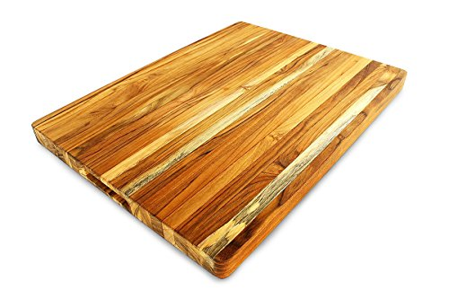Extra large, rectangular wooden chopping board.